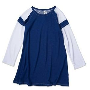 Erge Kids Raglan Long Sleeve Navy T Shirt …